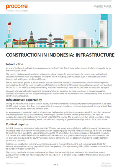 Procorre whitepapers Construction in indonesia P1