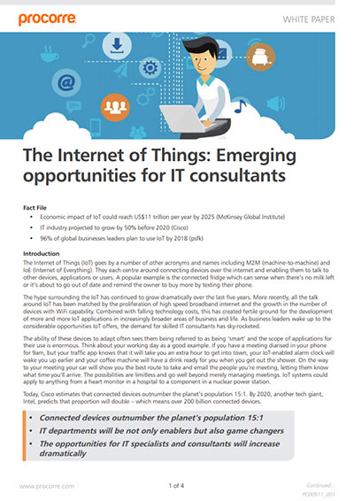 Procorre whitepapers Internet of things P1