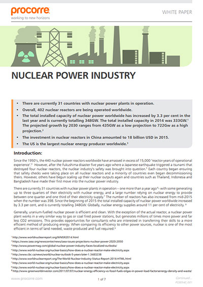 Procorre whitepapers Nuclear Power industry P1