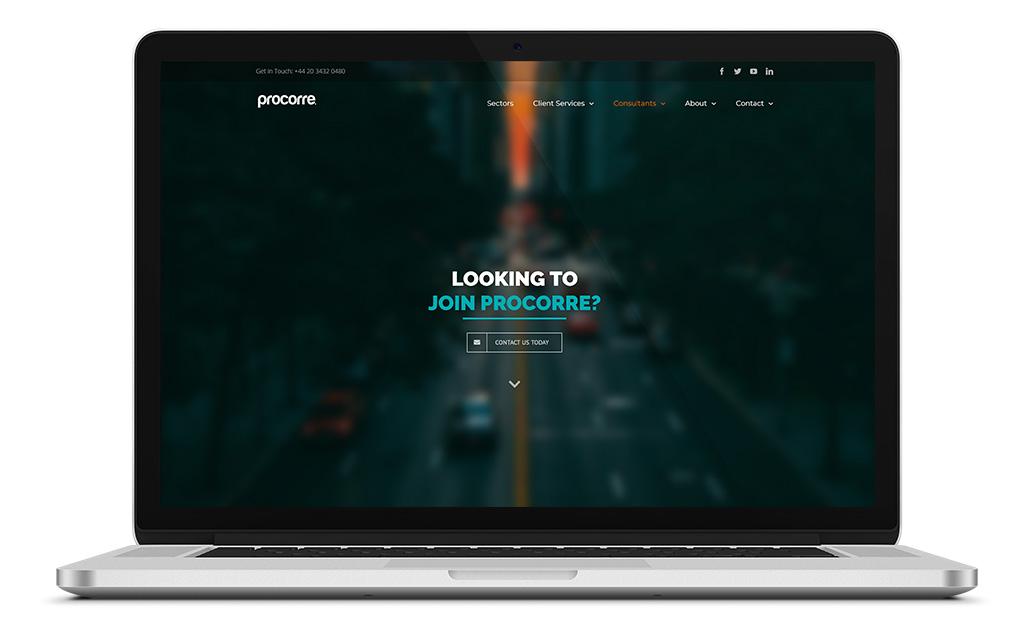 Procorrre consultants webpage