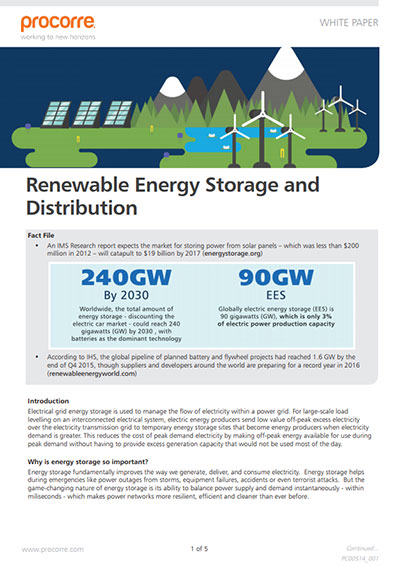 Procorre whitepapers Renewable energy storage P1