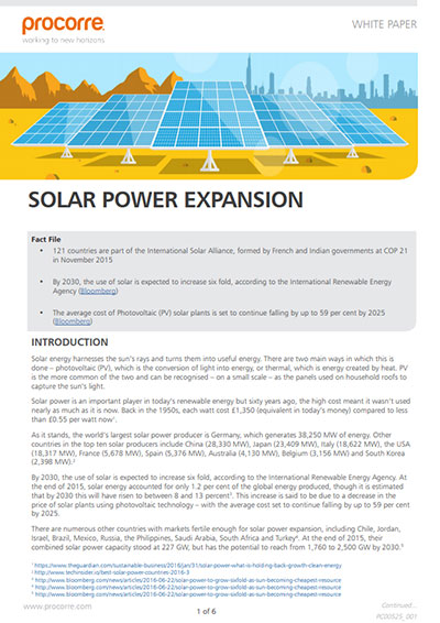 Procorre Whitepapers Solar power P1