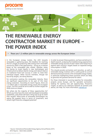 Procorre whitepapers the renewable energy contractor P1