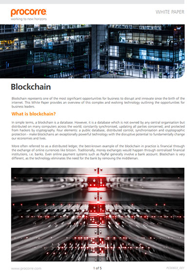 Procorre whitepapers Blockchain P1