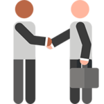 Consultants Shaking Hands Icon