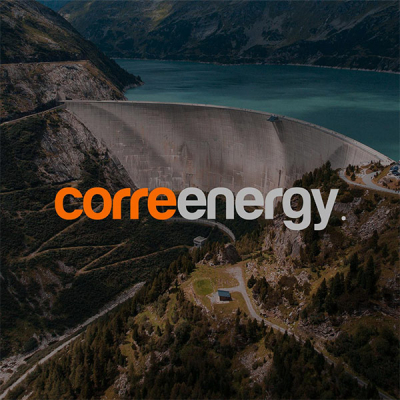 Corre Energy logo with background