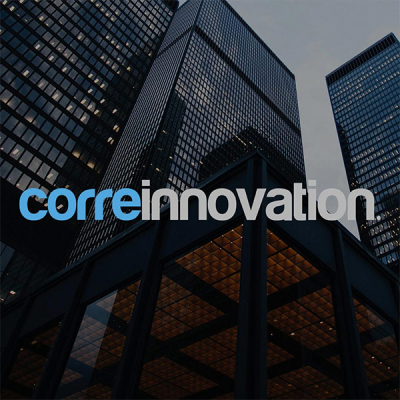 Corre Innovation logo  with background